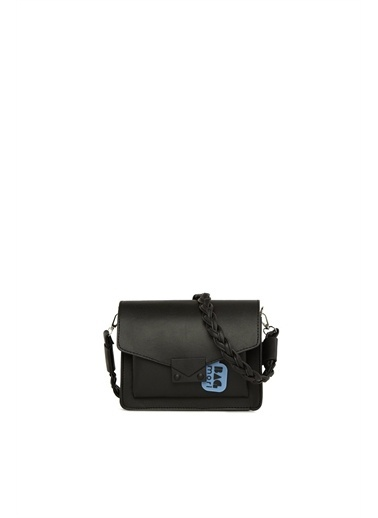 Bagmori  Kadın Renkli Kilitli Cepli Çanta M000006045 Siyah